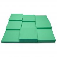 Панель из акустического поролона Ecosound Pattern Green 60мм, 60х60см цвет зеленый