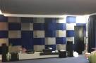 Пример применения  Бархатная акустическая панель из акустического поролона Ecosound Velvet Electric blue 25х25см 50мм. Цвет темно-синий