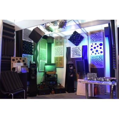 Купить акустическая панель ecosound chimera f venge contrast 50x50см 53мм цвет коричневый в полоску по низкой цене