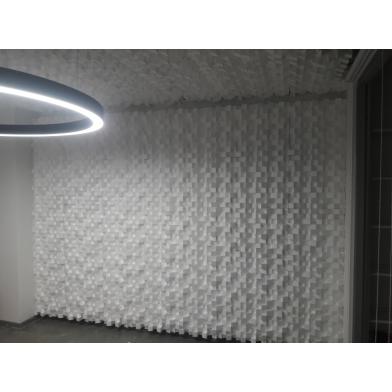 Купить акустический диффузор-рассеиватель ecosound ecodiff white 150мм,50х50 см цвет белый по низкой цене