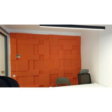 Купить бархатная акустическая панель из акустического поролона ecosound velvet orange 25х25см 50мм. цвет оранжевый по низкой цене