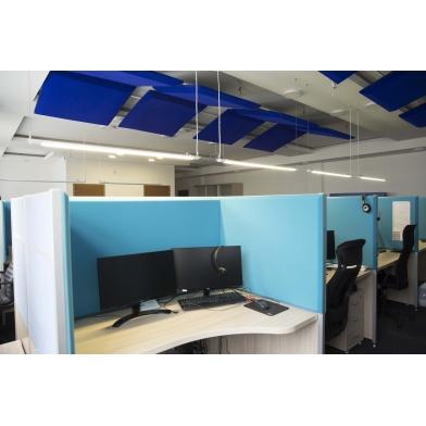 Купить настольная акустическая ширма для офисных столов ecosound tetras green 600 х 600 зеленая по низкой цене
