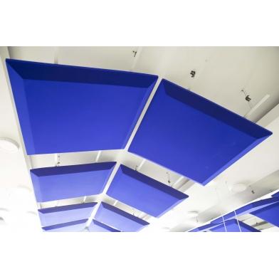 Купить акустическая подвесная звукопоглощающая панель ecosound quadro blue. 50мм 1х1м цвет синий по низкой цене