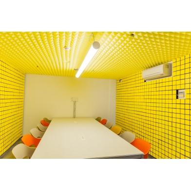 Купить акустическая панель ecosound tetras acoustic wood yellow 50x50см 53мм цвет жёлтый по низкой цене