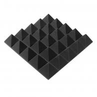 Панель из акустического поролона пирамида Ecosound Pyramid Gain Black 70мм 45х45см цвет черный графит