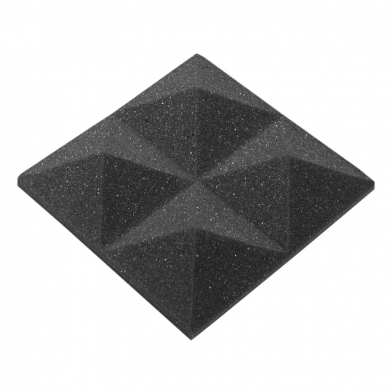 Акустический поролон Ecosound пирамида 30мм Micro, 10х10см Цвет черный графит