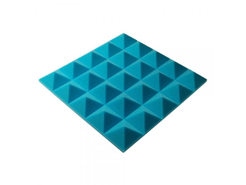 Панель из акустического поролона пирамида Ecosound Pyramid Gain Blue 50 мм.45х45см цвет синий