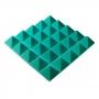 Превью Панель из акустического поролона пирамида Ecosound Pyramid Gain Green 70 мм.45х45см цвет зелёный