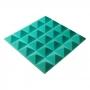 Превью Панель из акустического поролона пирамида Ecosound Pyramid Gain Green 50 мм.45х45см цвет зелёный