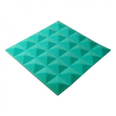 Купить панель из акустического поролона пирамида ecosound pyramid gain green 30 мм.45х45см цвет зелёный по низкой цене