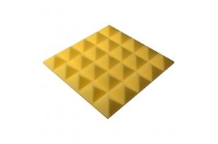 Панель из акустического поролона пирамида Ecosound Pyramid Gain Yellow 50 мм.45х45см цвет жёлтый