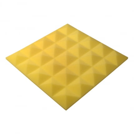 Панель из акустического поролона пирамида Ecosound Pyramid Gain Yellow 30 мм.45х45см цвет жёлтый
