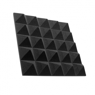 Купить панель из акустического поролона пирамида ecosound pyramid gain black 50мм 45х45см цвет черный графит по низкой цене