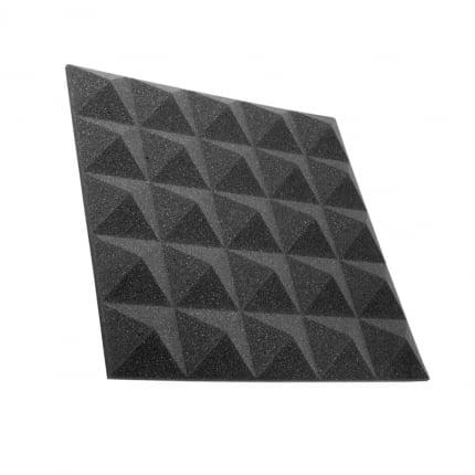 Превью Панель из акустического поролона Ecosound пирамида Pyramid Gain Black 30 мм.45х45см цвет черный графит