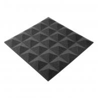 Панель из акустического поролона Ecosound пирамида Pyramid Gain Black 30мм 45х45см цвет черный графит