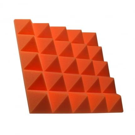 Превью Панель из акустического поролона пирамида Ecosound Pyramid Gain Orange 70 мм.45х45см цвет оранжевый