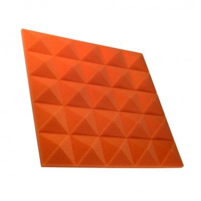 Купить панель из акустического поролона пирамида ecosound pyramid gain orange 30 мм.45х45см цвет оранжевый по низкой цене