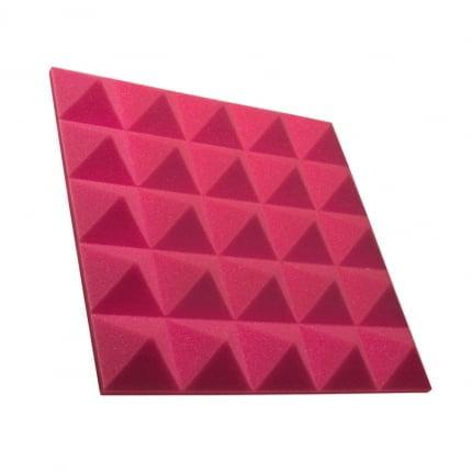 Превью Панель из акустического поролона пирамида Ecosound Pyramid Gain Rose 50 мм.45х45см цвет розовый