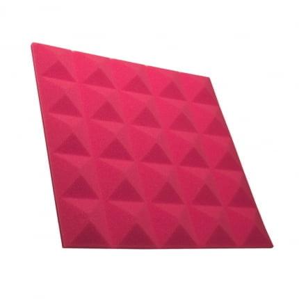 Превью Панель из акустического поролона пирамида Ecosound Pyramid Gain Rose 30 мм.45х45см цвет розовый