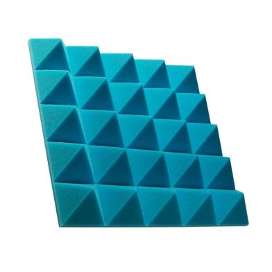 Купить панель из акустического поролона пирамида ecosound pyramid gain blue 70 мм.45х45см цвет синий по низкой цене