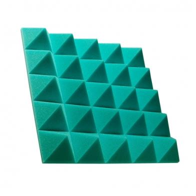 Купить панель из акустического поролона пирамида ecosound pyramid gain green 70 мм.45х45см цвет зелёный по низкой цене