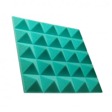 Купить панель из акустического поролона пирамида ecosound pyramid gain green 50 мм.45х45см цвет зелёный по низкой цене