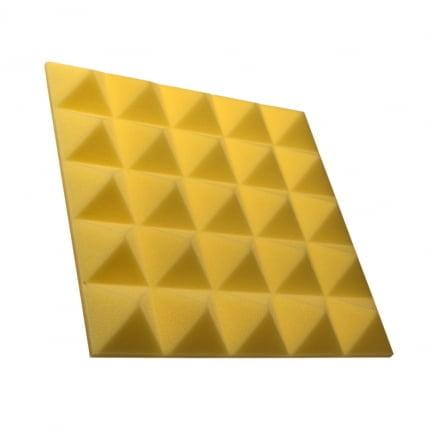 Превью Панель из акустического поролона пирамида Ecosound Pyramid Gain Yellow 50 мм.45х45см цвет жёлтый
