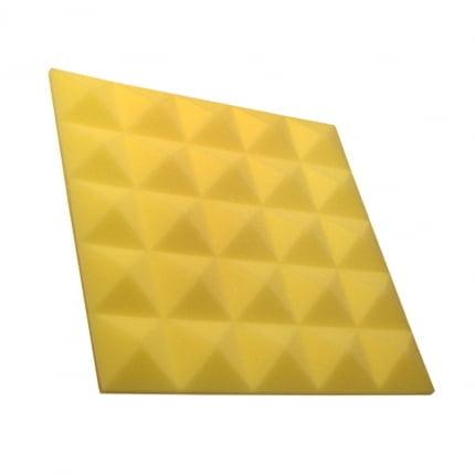Превью Панель из акустического поролона пирамида Ecosound Pyramid Gain Yellow 30 мм.45х45см цвет жёлтый