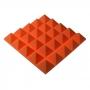 Купить панель из акустического поролона пирамида ecosound pyramid gain orange 70 мм.45х45см цвет оранжевый по низкой цене