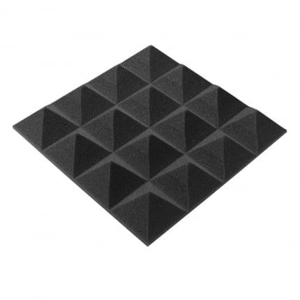 Акустический поролон Ecosound пирамида 30мм Micro, 20х20см Цвет черный графит
