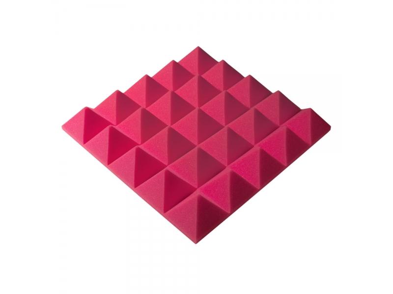 Панель из акустического поролона пирамида Ecosound Pyramid Gain Rose 70 мм.45х45см цвет розовый