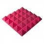 Превью Панель из акустического поролона пирамида Ecosound Pyramid Gain Rose 70 мм.45х45см цвет розовый
