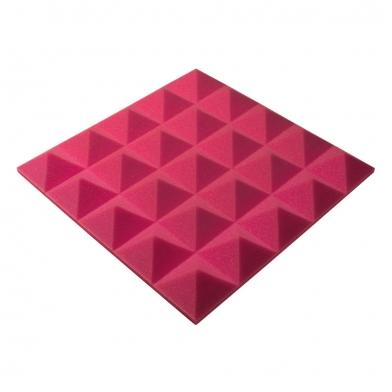 Панель из акустического поролона пирамида Ecosound Pyramid Gain Rose 50 мм.45х45см цвет розовый