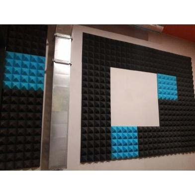 Купить панель из акустического поролона ecosound пирамида pyramid velvet black 250х250х25мм цвет черный графит по низкой цене