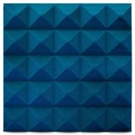 Панель из акустического поролона Ecosound пирамида Pyramid Velvet Blue 250х250х25мм цвет синий