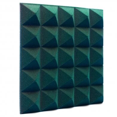 Купить панель из акустического поролона ecosound пирамида pyramid velvet dark green 250х250х25мм цвет темно-зеленый по низкой цене