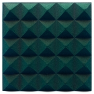 Панель из акустического поролона Ecosound пирамида Pyramid Velvet Dark green 250х250х25мм цвет темно-зеленый
