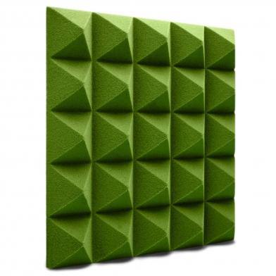 Купить панель из акустического поролона ecosound пирамида pyramid velvet green 250х250х25мм цвет зеленый по низкой цене