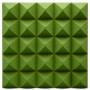 Панель из акустического поролона Ecosound пирамида Pyramid Velvet Green 250х250х25мм цвет зеленый