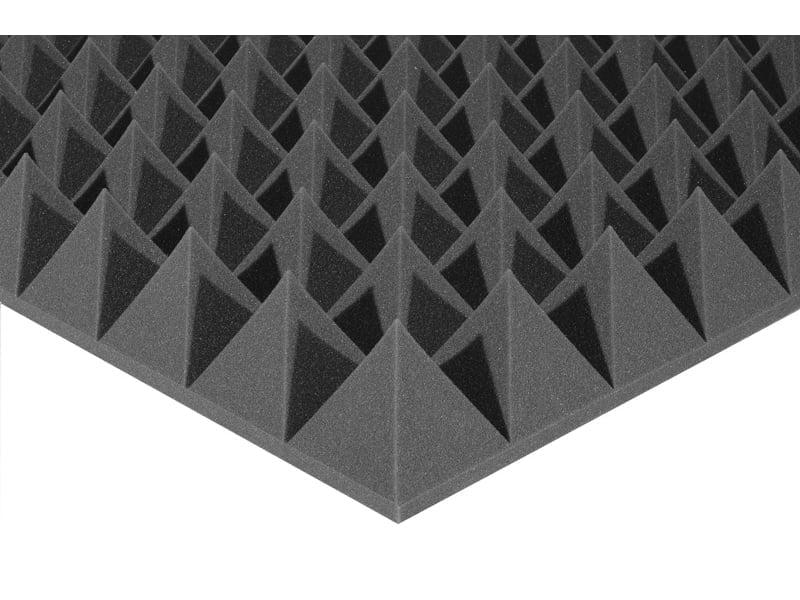 Акустический поролон Ecosound пирамида XL 100мм. 1мх1м Цвет черный графит