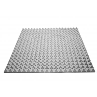 Купить акустический поролон ecosound пирамида 30мм 1мх1м цвет серый по низкой цене