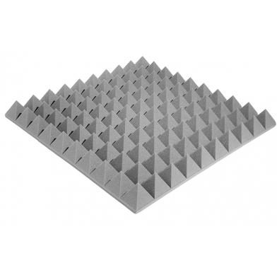 Купить акустический поролон ecosound пирамида xl 100мм 1мх1м цвет серый по низкой цене