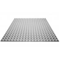 Акустический поролон Ecosound пирамида 25мм 1мх1м Цвет серый