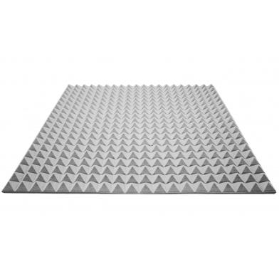 Купить акустический поролон ecosound пирамида 25мм 1мх1м цвет серый по низкой цене