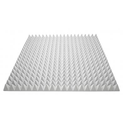 Купить акустичний поролон ecosound піраміда 70мм 1мх1м колір сірий  по низкой цене