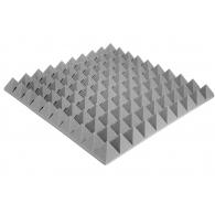 Акустический поролон Ecosound пирамида XL 100мм 1мх1м Цвет серый