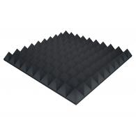 Акустический поролон Ecosound пирамида XL 100мм 1мх1м Цвет черный графит