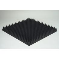 Акустический поролон Ecosound пирамида 120мм 1мх1м Цвет черный графит
