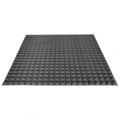 Купить акустический поролон ecosound пирамида 20мм 1мх1м цвет черный графит по низкой цене