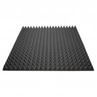 Акустический поролон Ecosound пирамида 70мм 1мх1м Цвет черный графит